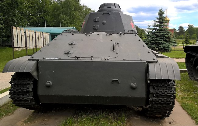 restored T-50 Russian Soviet WW2 Light Tank