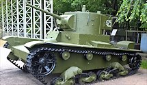Surviving T-26 Russian Soviet WW2 light Tank