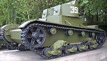 Surviving Twin turret T-26 Russian Soviet WW2 light Tank