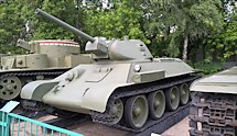 Surviving T34/76 Russian Soviet WW2 Medium Tank in Moscow