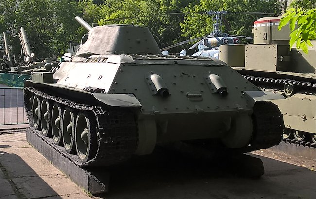 Preserved Russian Soviet WW2 T34/76 Medium Tank