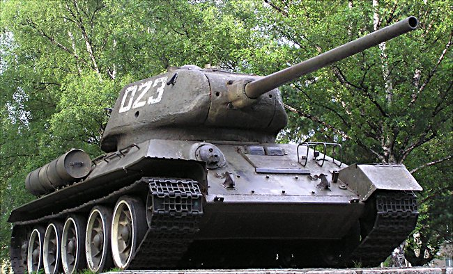 surviving t3485 russian soviet ww2 medium tank monument