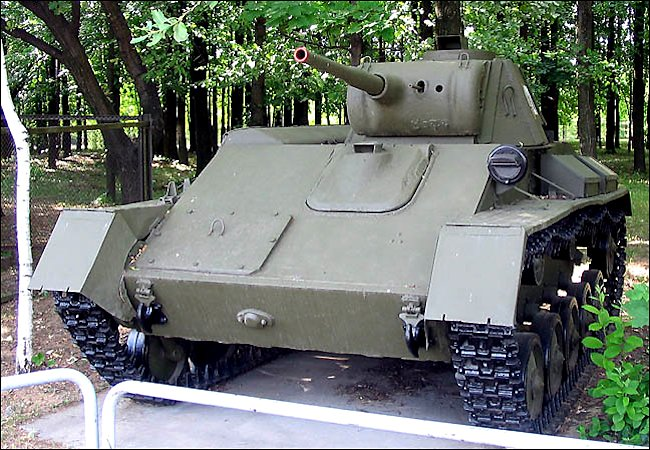 Restored T-70 Soviet  WW2 Light Tank