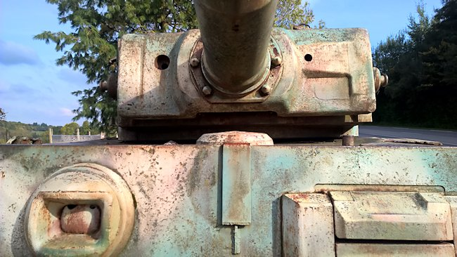 The Vimoutiers Tiger tank's front armour could not be penetrated by a Sherman 75mm tank gun