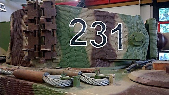 tiger tank at the german tank museum. Black Bedroom Furniture Sets. Home Design Ideas