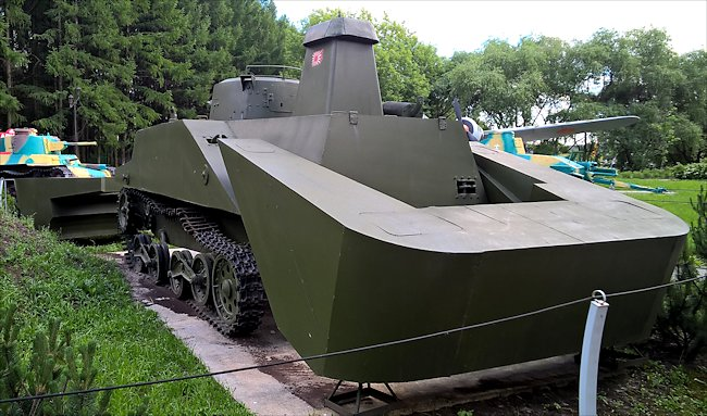 Surviving Japanese WW2 type 2 Ka-Mi Amphibious tank
