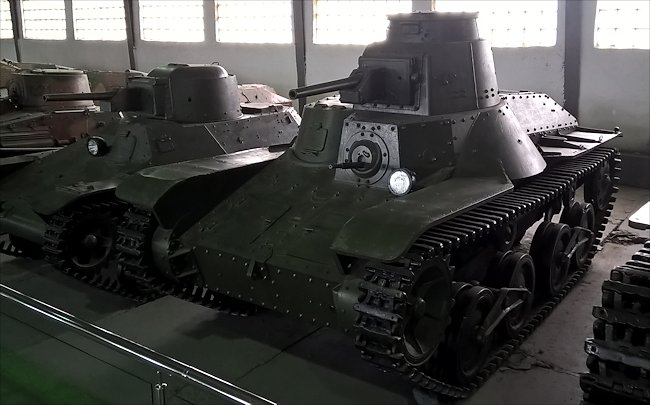Surviving Japanese WW2 Type 95 Ha-Go light tank