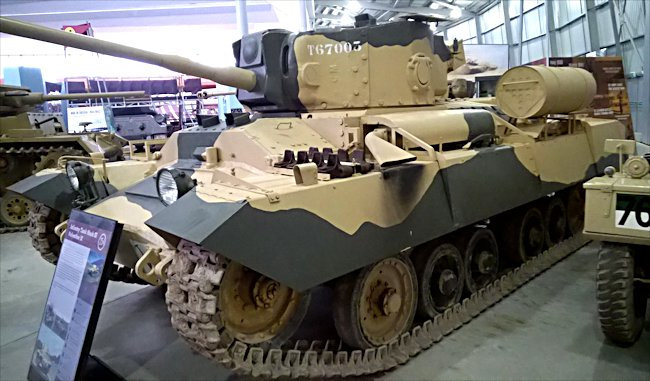 Side view of the Valentine IX Tank