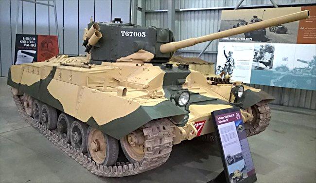 Surviving Valentine IX Tank With 75mm Gun