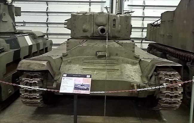 British Valentine MkIX tank did not see action in the WW2 Battle of the Bulge