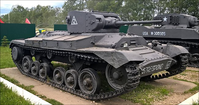 Preserved Lend Lease Valentine Tank In The Kubinka Tank Museum Russia
