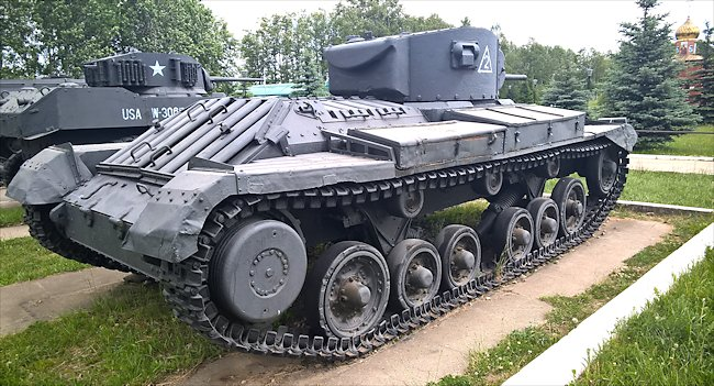 Preserved Lend-Lease Valentine Tank in the Kubinka Tank Museum Russia