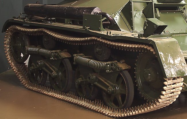 Surviving Vickers MkII Light Tank at the Tank Museum, Bovington, England