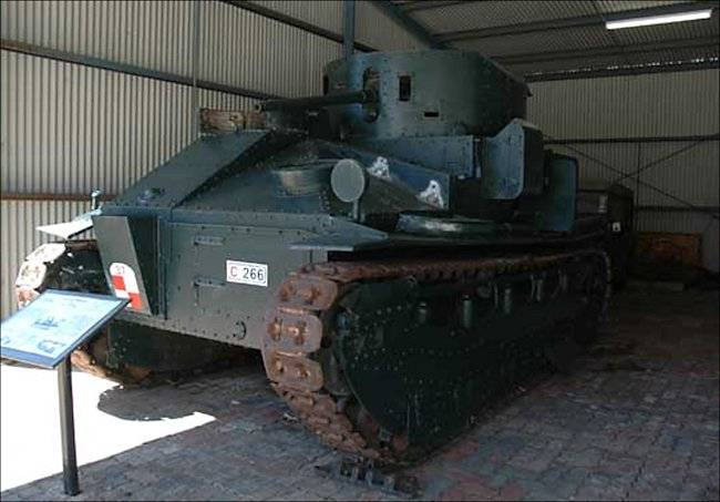 Preserved 1920s British Vickers Medium MkII tank