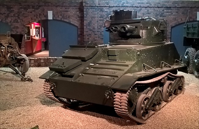 Surviving Vickers Light Tank MkVI Tank at the Imperial War Museum Duxford.