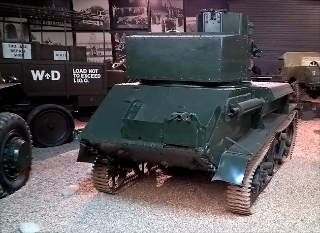 Preserved Vickers Light Tank MkVI Tank at the Imperial War Museum Duxford.
