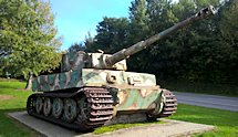 Surviving Battle of the D-Day 1944 Tiger tank in Vimoutiers France