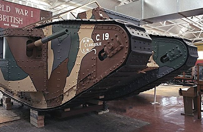 Surviving WW1 British Mark 1 Male Tank