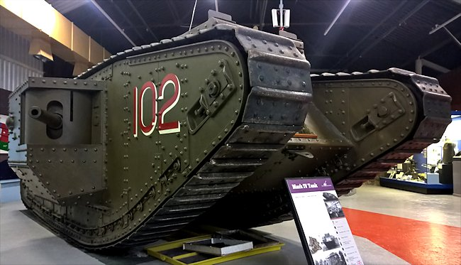 Replica of WW1 British Mark IV Male Tank