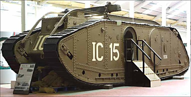 Surviving WW1 British Mark IX Armoured Personel Carrier Tank