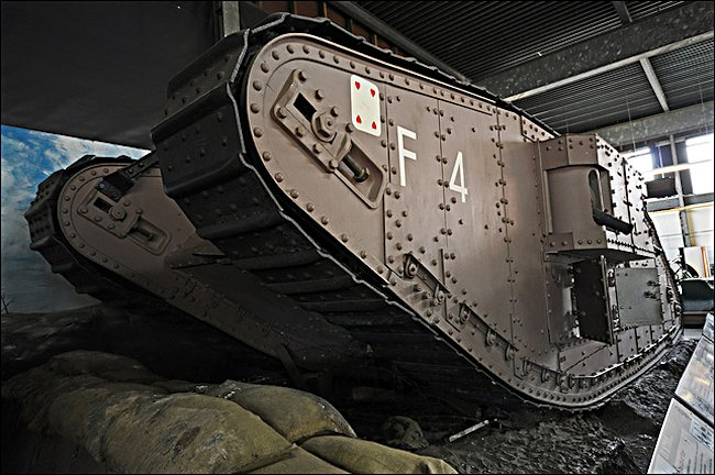 Surviving WW1 British Mark IV Female Tank