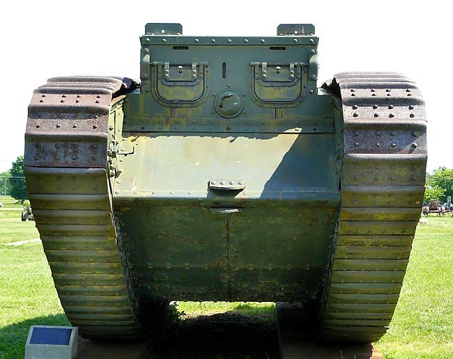 Surviving WW1 British Mark IV Female Tank in Flesquieres, France