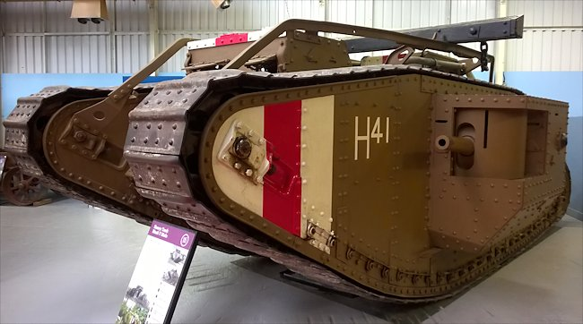 Surviving WW1 British Mark V Male Tank