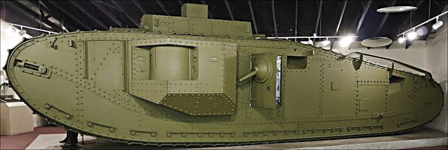 Surviving WW1 British and American Army Mark VIII Tank at Fort Meade, MD, USA