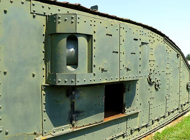 Surviving WW1 British Mark IV Female Tank National Armor and Cavalry Museum, Fort Benning, GA, USA